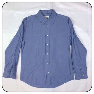 Old Navy Medium Lt. Blue Striped Long Sleeve Shirt